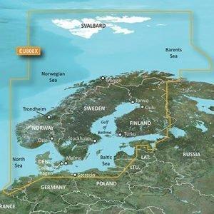 Garmin Bluechart G2 Hxeu800x Pohjoismaat Kartta