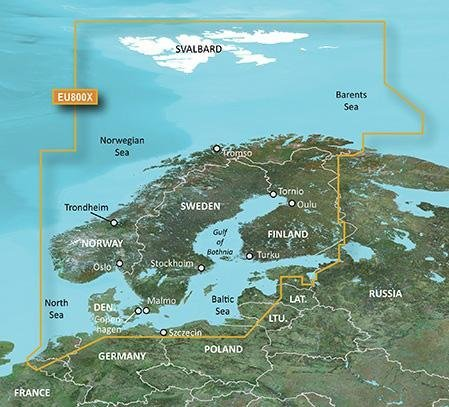 Garmin Bluechart G2 Hxeu800x Pohjoismaat Kartta Venekauppa24 Fi