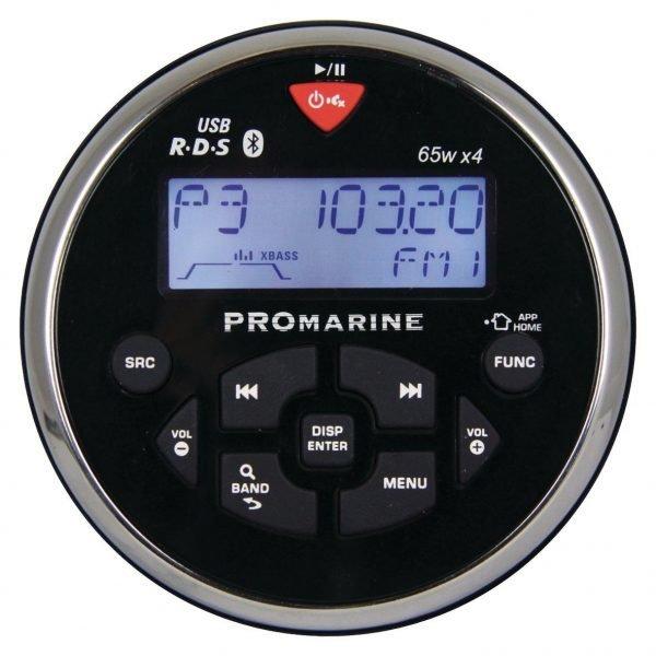 Ltc Promarine 1111 Veneradio Vesitiivis Pyöreä Musta Rds 4x65 W