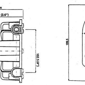 Ultraflex T-85 Ohjauspesä